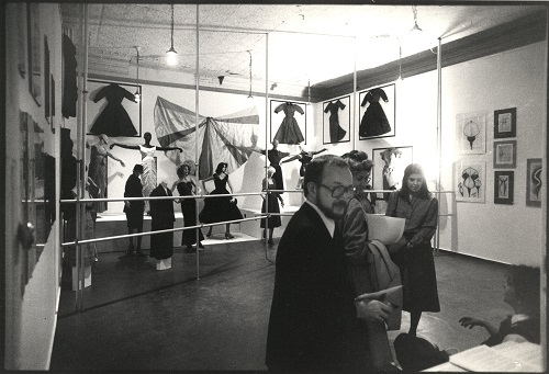 Installation view of the MoMA PS1 exhibition, Fashion (Fall 1981): Homer Layne's Collection of Charles James Fashions (October 18–December 13, 1981). Photographer unknown. MoMA PS1 Archives, I.A.631.