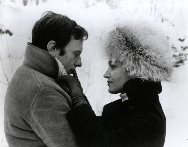 Jean-Louis Trintignant and Francoise Fabien in My Night at Maud's. 1969. France. Written and directed by Eric Rohmer