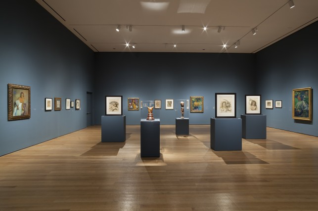 Installation view of Gauguin: Metamorphoses at The Museum of Modern Art, New York (March 8–June 8, 2014). Photo: Jonathan Muzikar. © 2014 The Museum of Modern Art