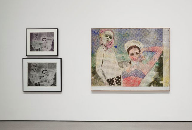 Installation view of Alibis: Sigmar Polke 1963–2010, The Museum of Modern Art, New York, April 19–August 3, 2014. © 2014 The Estate of Sigmar Polke/Artists Rights Society (ARS), New York/VG Bild-Kunst, Bonn, Germany