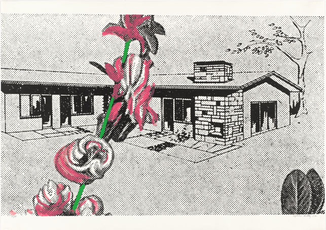 Sigmar Polke. Weekend House (Wochenendhaus) from Graphics of Capitalist Realism (Grafik des Kapitalistischen Realismus). 1967