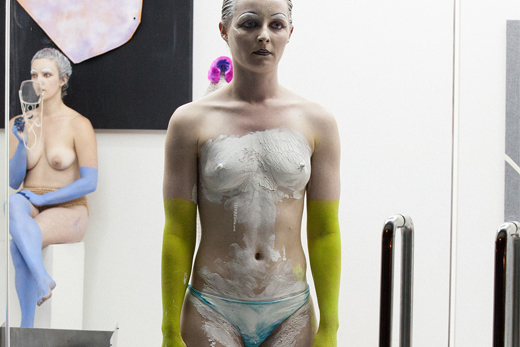 Installation view of Donna Huanca's SADE ROOM (famously reclusive)  at The Print Shop at MoMA PS1. © 2014 MoMA PS1