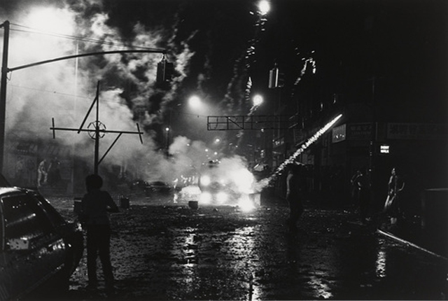 Tom Arndt. Chinatown and Little Italy, New York, Fourth of July, 1981. 1981. Gelatin silver print, 12 1/4 x 18 3/