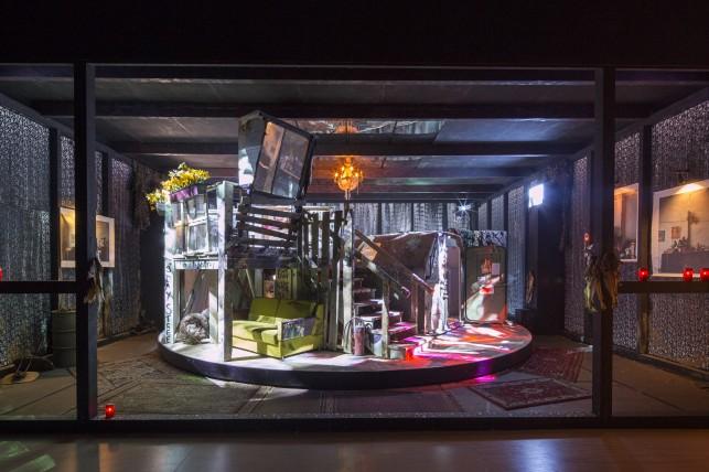 Christoph Schlingensief, The Animatograph. 2005. Installation view in Christoph Schlingensief at MoMA PS1, 2014. © 2014 MoMA PS1. Photo: Matthew Septimus