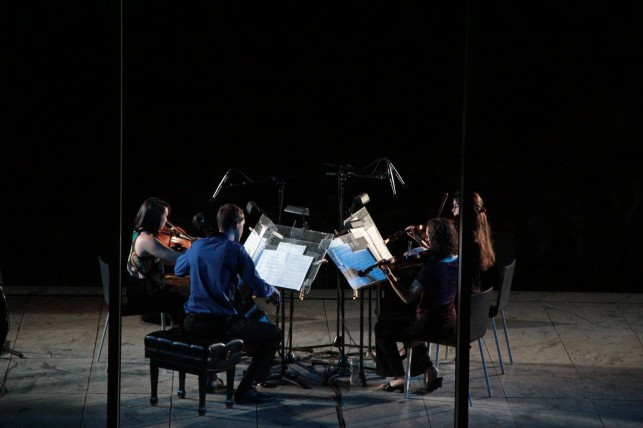 New Juilliard Ensemble string quartet. Photo: Ted Sullivan