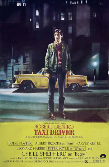 Poster for Taxi Driver. 1976. USA. Directed by Martin Scorsese