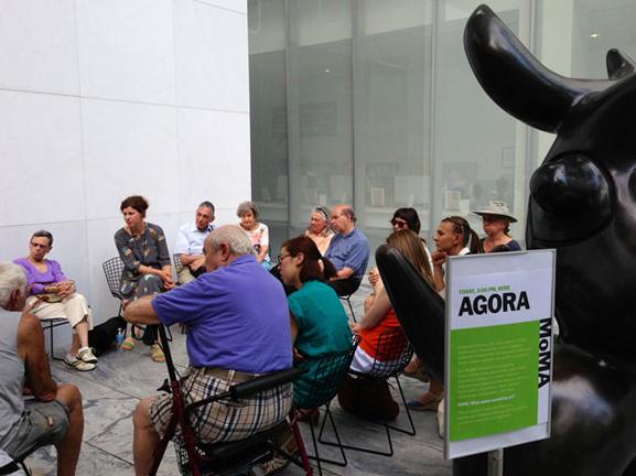 Agora facilitated by Petra Pankow. The Abby Aldrich Rockefeller Sculpture Garden, July 9, 2013