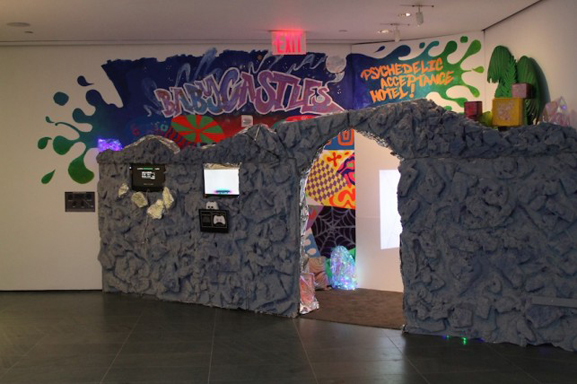 The final arcade on view in the In the Making Summer 2014 Teen Art Show