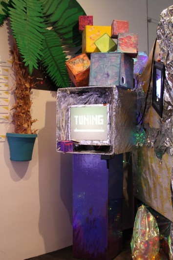 One of the teen-created arcade consoles