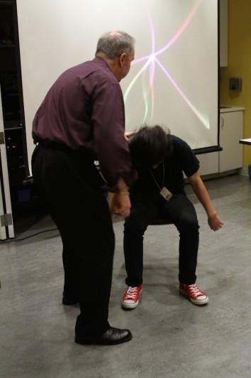 John Cerbone hypnotizing Nicolas