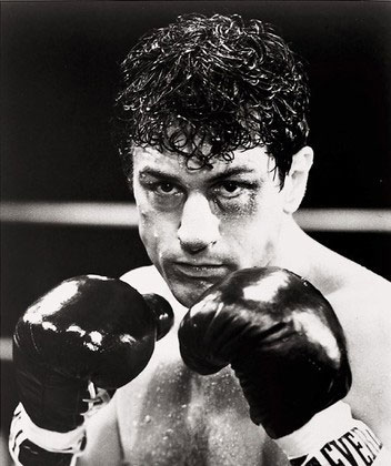 Robert De Niro in Raging Bull. 1980. USA. Directed by Martin Scorsese