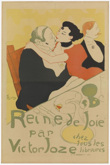Henri de Toulouse-Lautrec. Reine de joie (Queen of Joy). 1892. Lithograph, sheet: 59 7/16 x 39 7/16 in. (151 x 100.1 cm) The Museum of Modern Art, New York. Gift of Mr. and Mrs. Richard Rodgers
