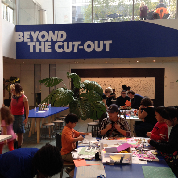 Installation view of MoMA Studio: Beyond the Cut-Out. Installation view. Photo: Sarah Kennedy, 2014