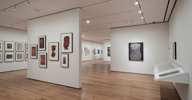 Installation view of Jean Dubuffet: Soul of the Underground, The Museum of Modern Art, October 18, 2014–April 5, 2015. Photograph by John Wronn