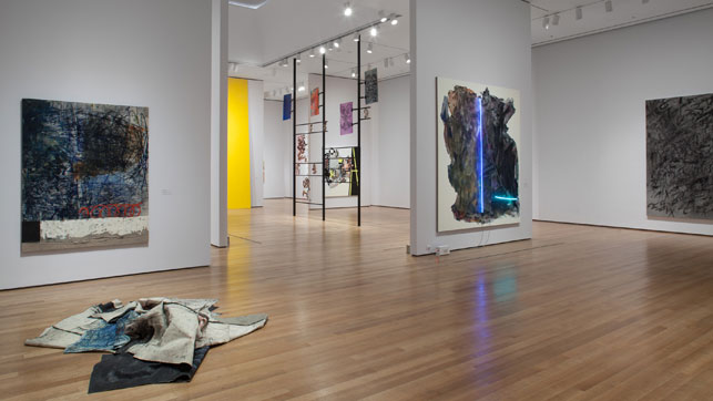 Installation view of The Forever Now: Contemporary Painting in an Atemporal World, The Museum of Modern Art, New York, December 14, 2014–April 5, 2015. Photo by John Wronn. © 2015 The Museum of Modern Art