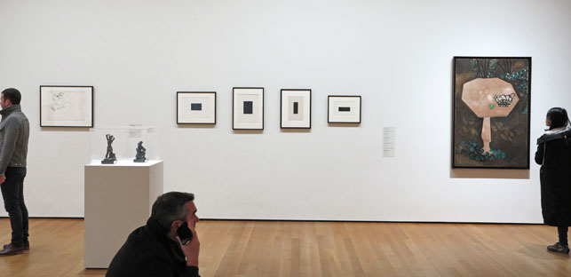 Installation view, Painting and Sculpture Galleries, The Museum of Modern Art. Shown: all works by Henri Matisse. © 2015 Succession H. Matisse, Paris/Artists Rights Society (ARS), New York