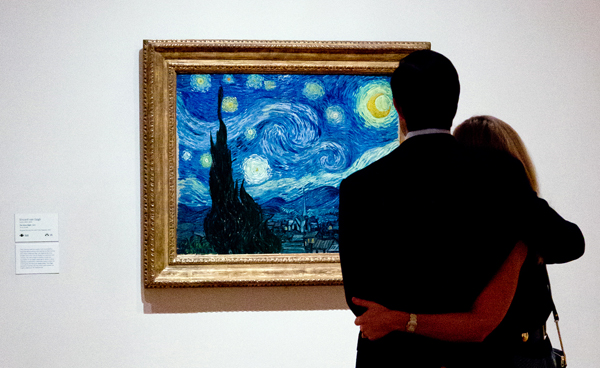 Vincent van Gogh. The Starry Night. 1889. Oil on canvas, 29 x 36 1/4″ (73.7 x 92.1 cm). The Museum of Modern Art, New York. Acquired through the Lillie P. Bliss Bequest. Photo: CarlyGaebe/Steadfast Studio