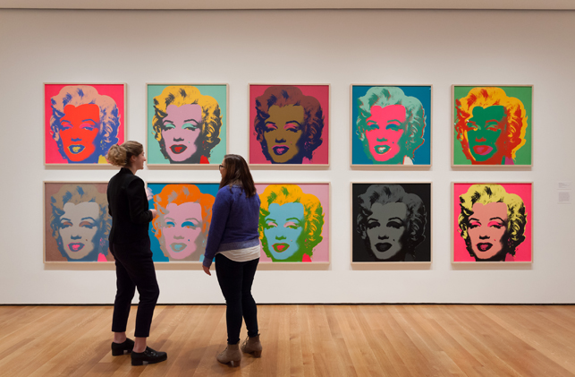 Installation view of Andy Warhol: Campbell's Soup Cans and Other Works, 1953–1967 at The Museum of Modern Art, April 25–October 12, 2015. Photo: Jonathan Muzikar. © 2015 The Museum of Modern Art, New York