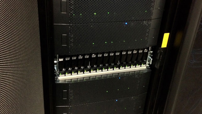 A close-up of one of the servers currently used to store our digital collections. Photo: Ben Fino-Radin