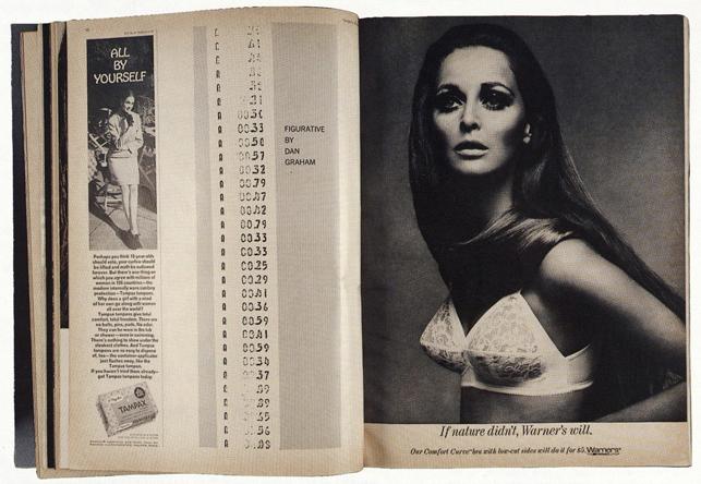 Dan Graham. Figurative. 1965. Published in Harper's Bazaar, March 1968