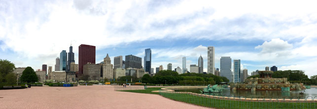 Chicago skyline, taken from Grant Park. Photo: Jessie Parsons