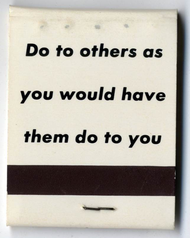 Barbara Kruger. Matchbook. 1992. Created for Dissent, Difference, and the Body Politic at the Portland Art Museum