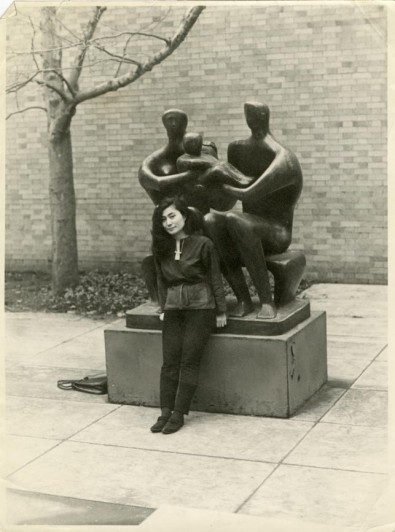Yoko Ono with Family Group  1948   49  cast 1950  by Henry Moore  The    Yoko Ono 1950