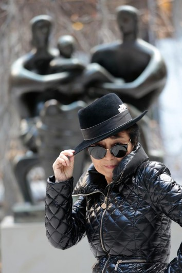Yoko Ono at The Museum of Modern Art. 2015. Photograph by Kishin Shinoyama. Courtesy Lenono Photo Archive, New York. © 2015 Yoko Ono