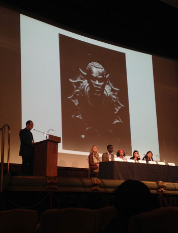 A discussion on the history of blackamoors at the Black Portraitures II: Imaging the Black Body and Re-Staging Histories conference, 2015. Photo: Zalika Azim