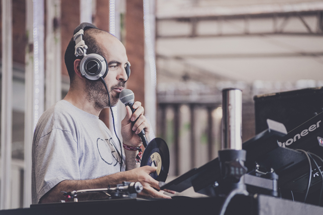Bobbito Garcia, MoMA PS1 Warm Up, Saturday, July 4, 2015. Photo: Charles Roussel