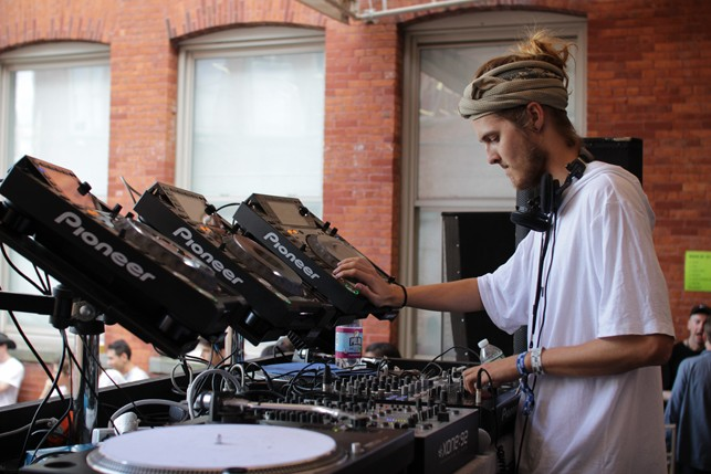 Helix, MoMA PS1 Warm Up, Saturday, July 11, 2015. Photo: Mark Cole