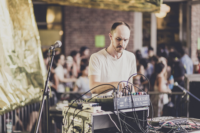 Gavin Russom, MoMA PS1 Warm Up, Saturday, August 1, 2015. Photo: Charles Roussel