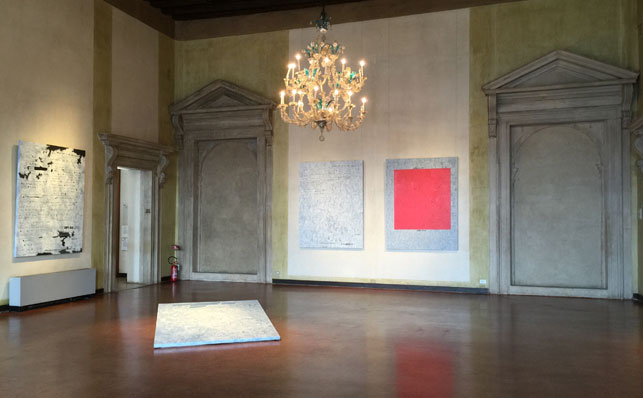 Installation view of Jenny Holzer: War Paintings, Museo Correr, May 7–November 22, 2015. Photo: Heidi Hirschl