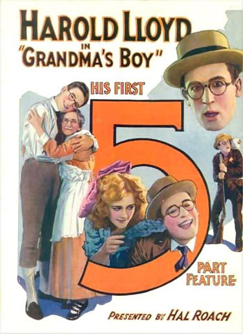 Poster for Grandma's Boy. 1922. USA. Directed by Fred Newmeyer. Produced by Hal Roach. Public domain image reproduced via Wikimedia Commons