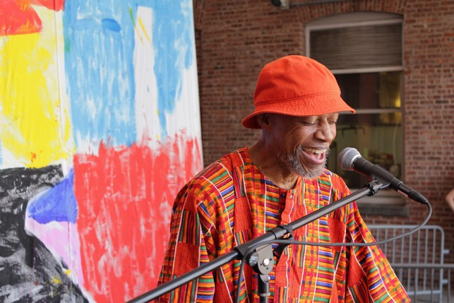 Laraaji, MoMA PS1 Warm Up, Saturday, August 22, 2015. Photo: Mark Cole