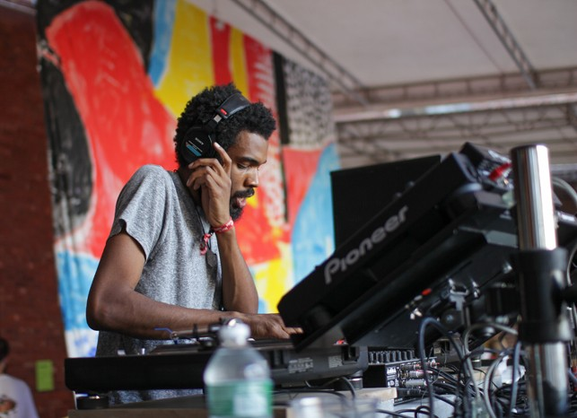 Kyle Hall, MoMA PS1 Warm Up, Saturday, August 22, 2015. Photo: Mark Cole