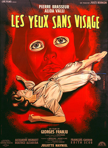 Jean Mascii. French one-panel poster for Les Yeux sans visage (Eyes without a Face). 1960. France/Italy. Directed by Georges Franju. Courtesy Sikelia Productions