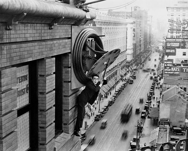 Harold Lloyd in Safety Last. 1923. USA. Directed by Fred Newmeyer, Sam Taylor. Acquired from Pathé