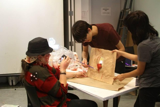 Blood and guts get the GIF treatment in the House of Horrors course. Photo by Kaitlyn Stubbs