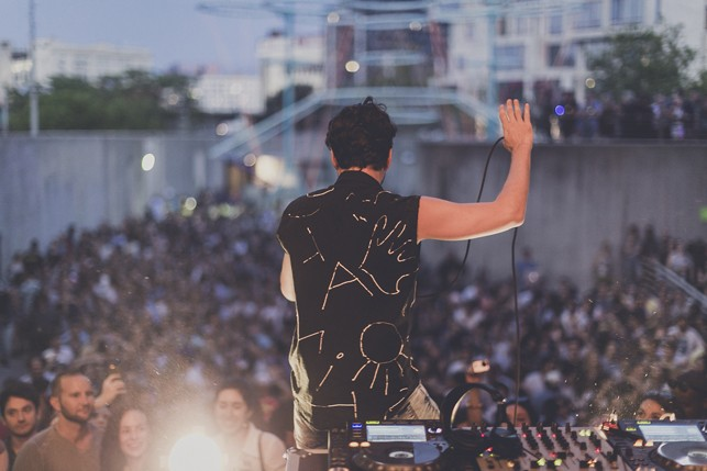 Matias Aguayo, MoMA PS1 Warm Up, Saturday, August 29, 2015. Photo: Charles Roussel