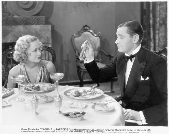 Trouble in Paradise. 1932. USA. Directed by Ernst Lubitsch. Acquired from Paramount Pictures. Preserved with funding from the Richard Griffith Memorial Fund