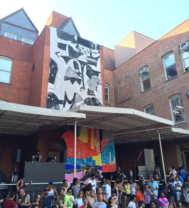 Fort Makers' Warm Up installation at MoMA PS1, Saturday August 22, 2015. Photo:  Nana Spears and Daniel de la Nuez
