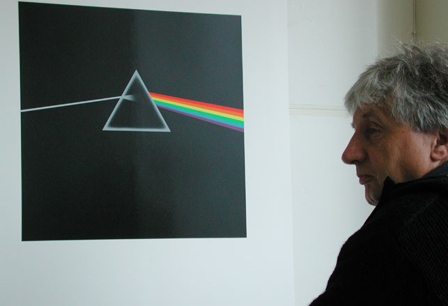 Storm Thorgerson and the Hipgnosis cover design for Pink Floyd's The Dark Side of the Moon (1973). Courtesy Roddy Bogawa and StormStudios