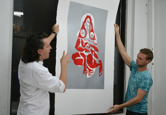McGinness and Hougen show a print in progress