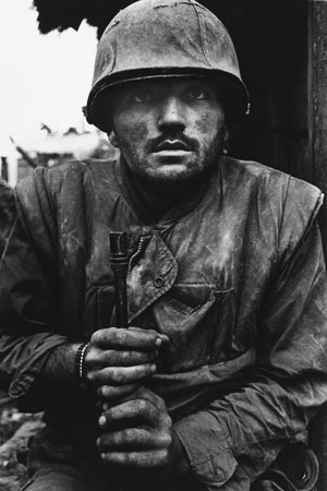 Don McCullin. Shell-shocked U.S. Marine, Hue, 1968. 1968. Image courtesy Don McCullin and the filmmakers