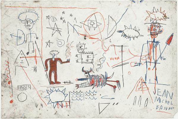 Jean-Michel Basquiat. Untitled. (1981). Oilstick on paper, 40 x 60