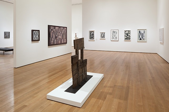 Installation view of Joaquín Torres-García: The Arcadian Modern at The Museum of Modern Art, New York (October 25, 2015–February 15, 2016). Photo: Jonathan Muzikar. © 2016 The Museum of Modern Art, New York