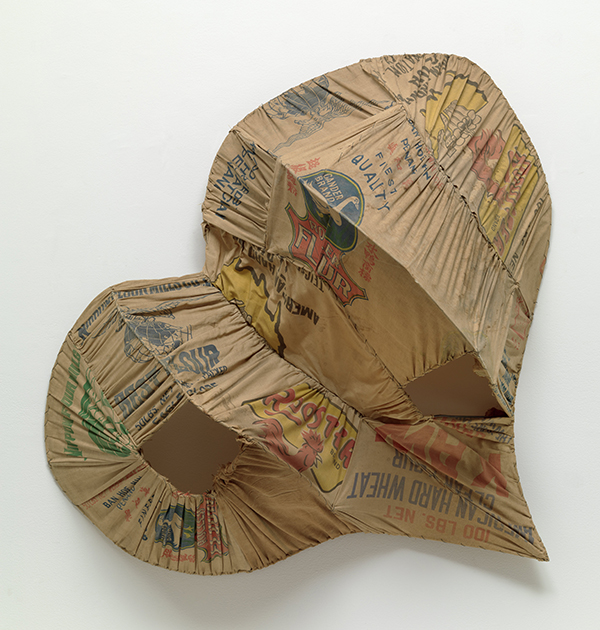Katsuhiro Yamaguchi. Voice. 1962, iron and sack cloth. The Museum of Modern Art, NY Gift of Ronald O. Perelman