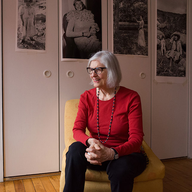 Rosalind Fox Solomon in her home studio, 2016. Photo: Caleb Bryant Miller