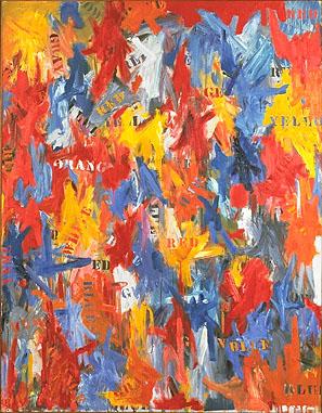 Jasper Johns, False Start. 1959, źródło: moma.org